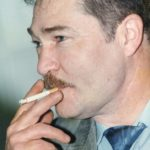 1995. Владивосток. Сопредседатель РАКГАТ Ушаков М.М. после совещания.