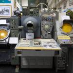 Диспетчерский пульт и оборудование с которым работали авиадиспетчеры во времена СССР. Музей Украэроруха.