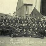 611 Перемышльский Краснознаменный ордена Суворова истребительный авиационный полк. А.И. Твердохлеб Стоит в верхнем ряду, восьмым справа (на фоне руля поворота белого цвета.