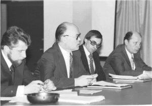 Советская делегация на одном из заседаний НТС-IV/8 (Прага, 1975 г.)
