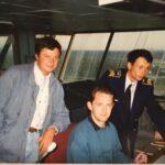 КДП Домодедово, 1993 г., авиадиспетчеры: В.Будич, К. Уиддоусон (Хитроу), Д. Тытарь