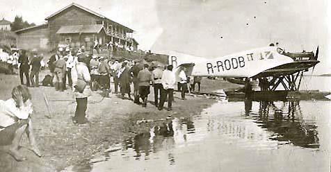 Прибытие первого самолета в Республику Коми