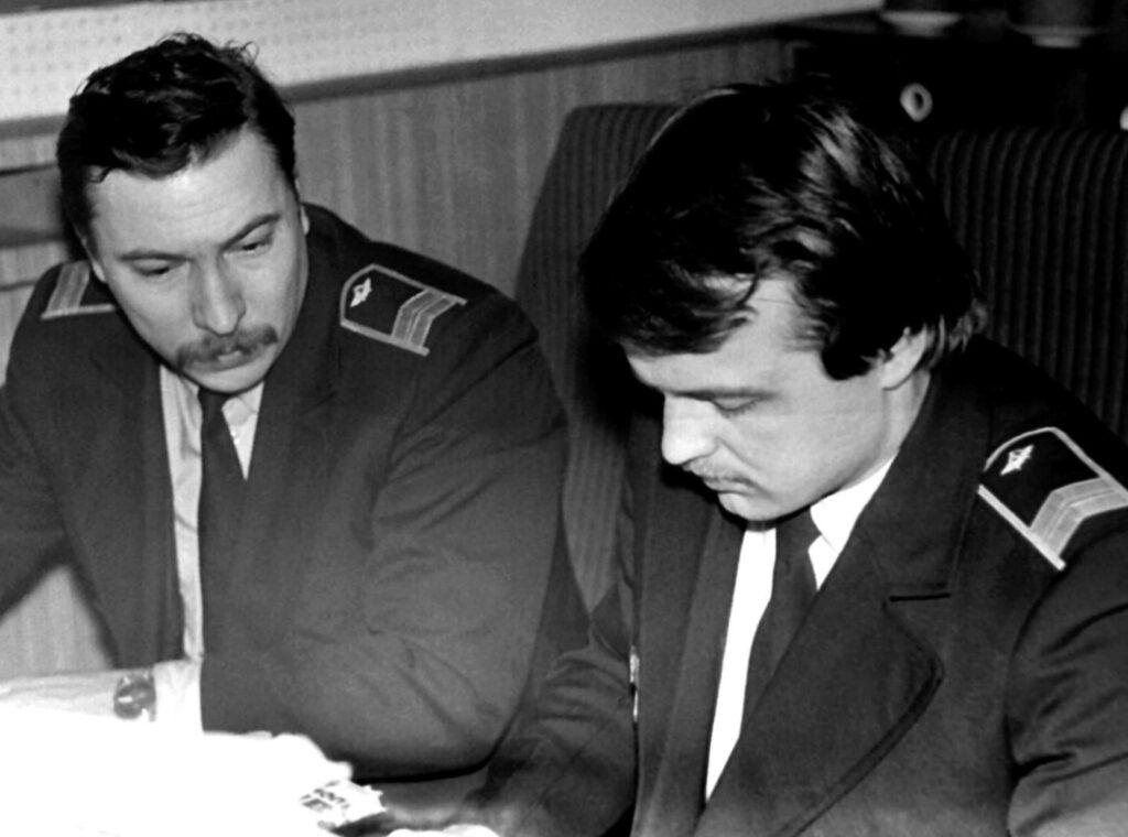 1985 г., Диспетчеры УВД Партум Э.Е., Романенко С.Л.