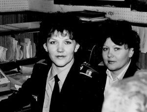1987 г., Диспетчеры АДП Куртекова М.А., Кулик Л.В.