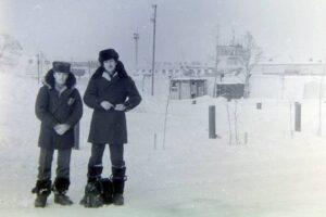 Попов В.В. Территория аэродрома «Надым». 1984 год.