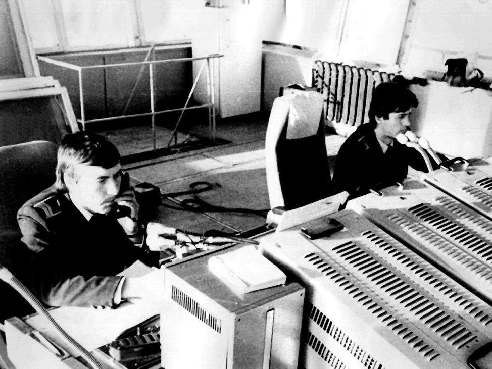 СДП-круг МВЛ 1982 г. диспетчеры УВД Улиндеев М.П., Благов А.Н.